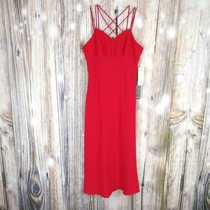 Evan-Picone Red Evening Long Dress Size 10